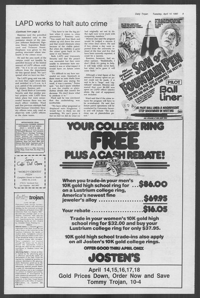 Daily Trojan, Vol. 88, No. 44, April 15, 1980