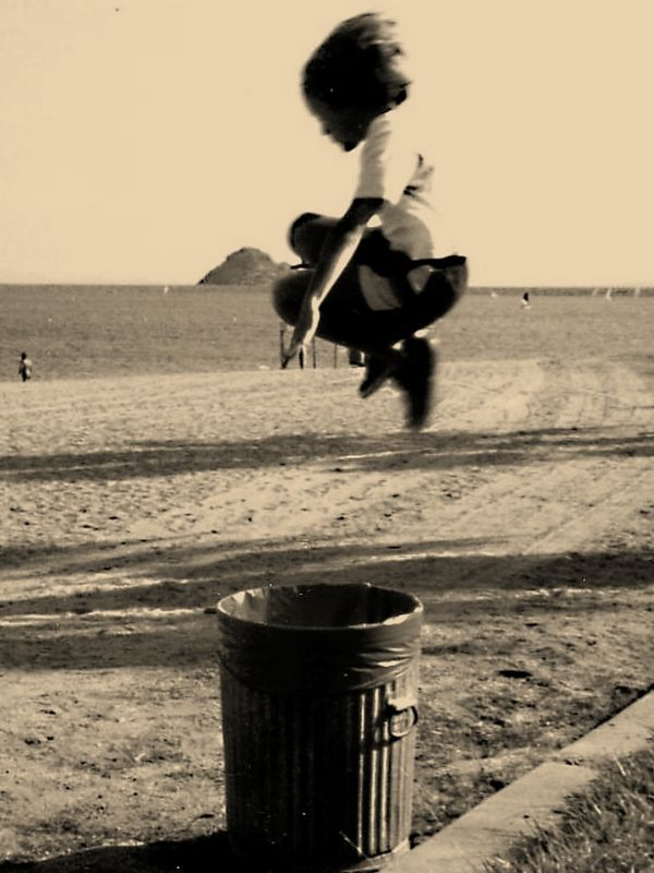 Greg's famous jump at Lake Perris 1987