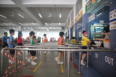 2020_06_11 Students With Face Shield and Safe Distancing