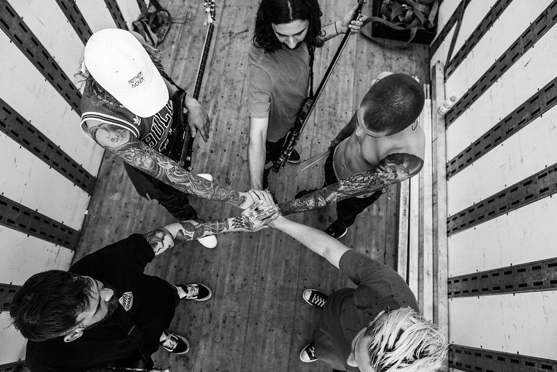 The Word Alive Backstage in Detroit, MI at Vans Warped Tour 2016