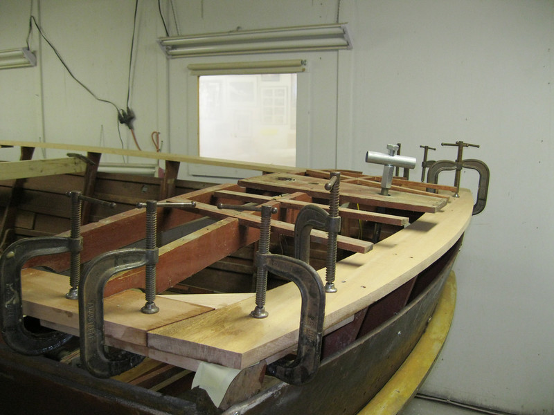 New transom plate replaced.