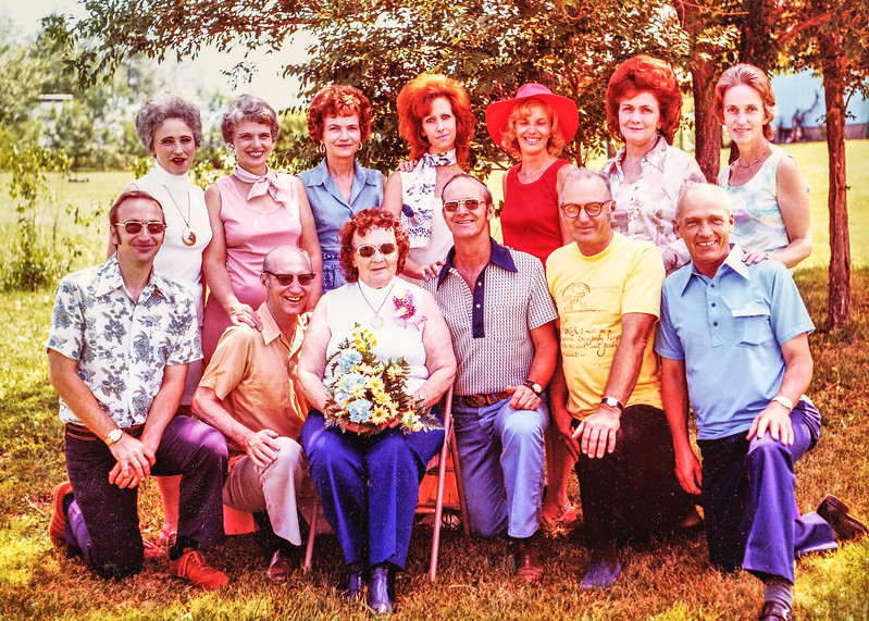 1976 Kipp Family Reunion, Unice, Iris, Colleen, Earlene, Tobylea, Sandy, Patty, Mike, Clint, Mom, Gene, Bud, Wayne-0005-5.jpg