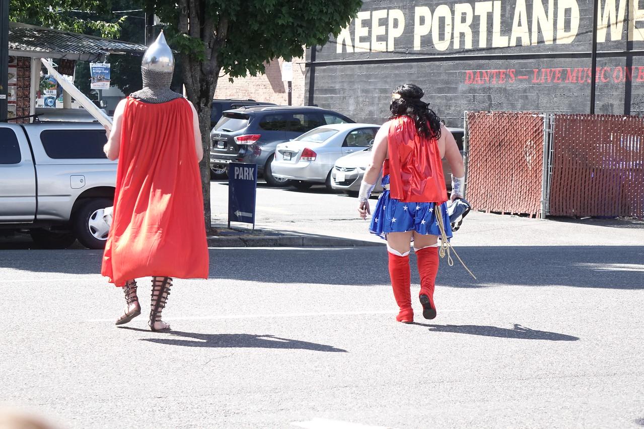Super-heroes in Portland