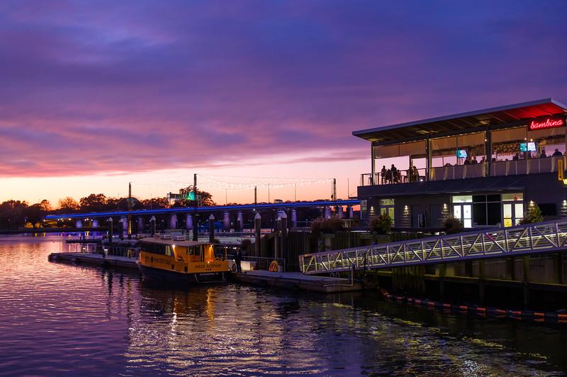 Waterfront bar at the Wharf