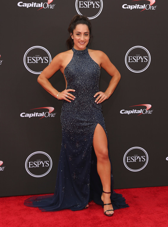 . Jordyn Wieber arrives at the ESPY Awards at Microsoft Theater on Wednesday, July 18, 2018, in Los Angeles. (Photo by Willy Sanjuan/Invision/AP)
