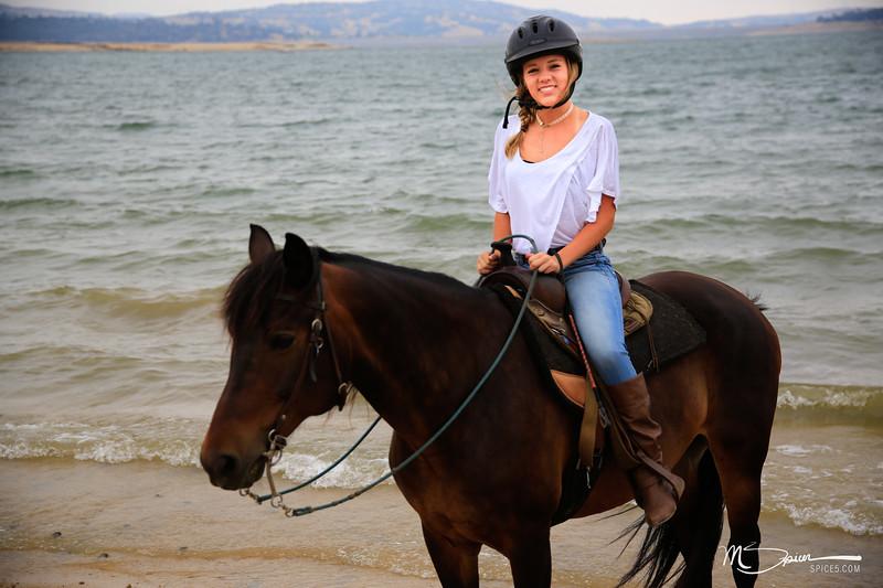 Daddy daughter 16th birthday horseback riding at Folsom Lake.