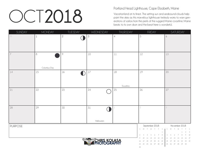 Chris Kolasa Photography 2018 Calendar_Draft 11_Final-PRINTED- October Calendar.jpg