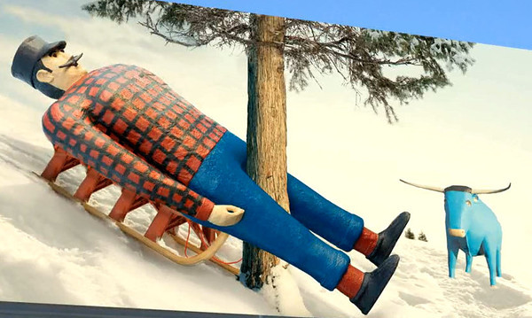 """. <p><b> Some fans of Paul Bunyan are not happy about new billboard ads that show the Minnesota icon promoting � </b> <p> A. Minnesota�s health insurance exchange  <p> B. Sledding  <p> C. Protective cups  <p><b><a href=\'http://www.twincities.com/politics/ci_23889026/minnesotas-health-exchange-ads-paul-bunyon-and-babe\' target=\""""_blank\"""">HUH?</a></b> <p>   (Courtesy of MNsure)"""