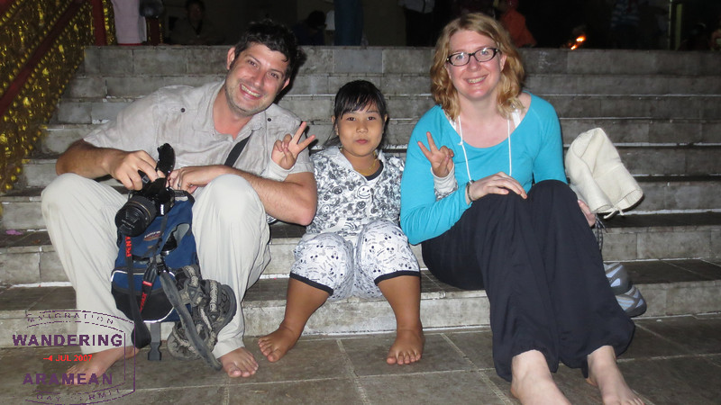 This young girl wanted a photo with us. I insisted that we get a copy, too.