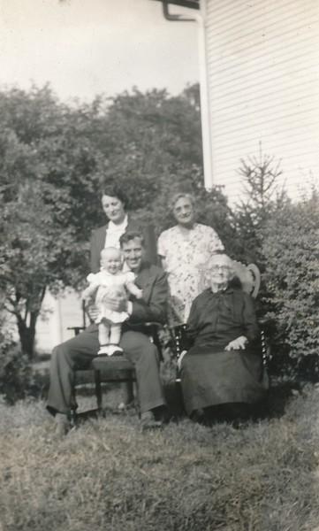 Penny, Gary & MArie Niece with Marie's Mom & Grandma