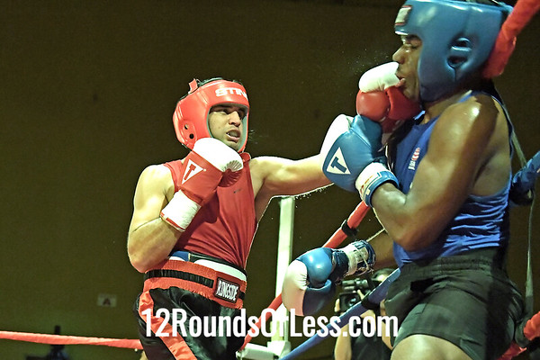 Bout 11 Jeffery   Roland Membrano, Red Gloves, King of the Ring, Brampton Ontario, Canada -vs- Amir Mason, Blue Gloves, Kihgdoms Fitmess BC, Cleveland, 152 Lbs, North vs South Championship