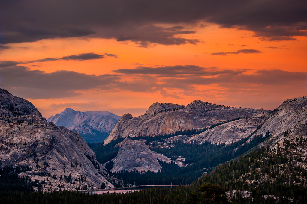 Sunset over Yosemite, Yosemite National Park, CA