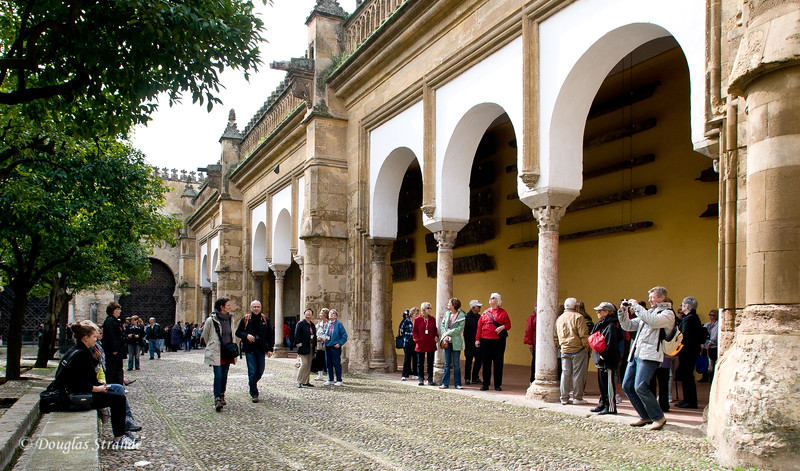 Thur 3/10 in Cordoba: In the inner courtyard of  the Mezquita