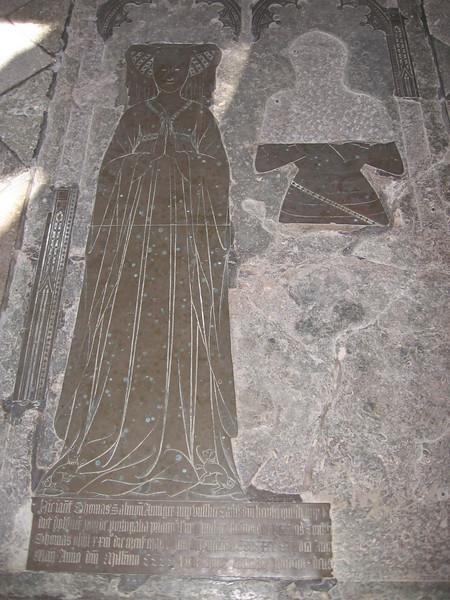Funeral brasses, Fitzalan Chapel, Arundel