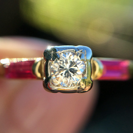 .14ct (est) Vintage Early Round Brilliant Illusion Ring