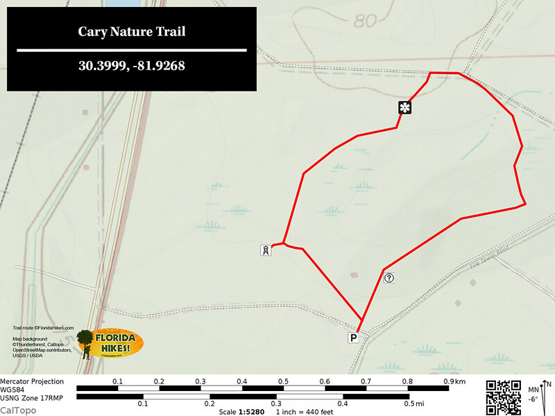 Cary State Forest Nature Trail Map