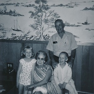 1967 Peg & Ray with Grandparents