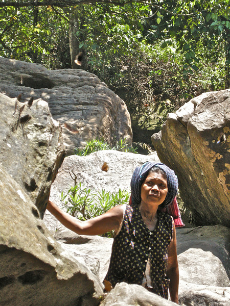 Local lady, Phnom Kulen National Park: Siem Reap