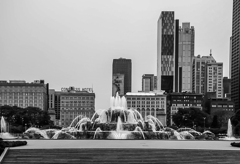 Buckingham fountain bnw.jpg