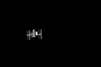 The International Space Station (ISS) seen over Los Angeles
