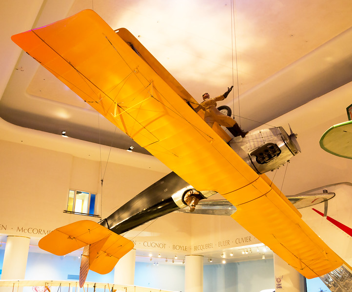 The Curtiss Jenny (JN-4) 1915.  My father learned to fly in one in 1918.  It became a popular barnstorming stunt plane in the 1920s.