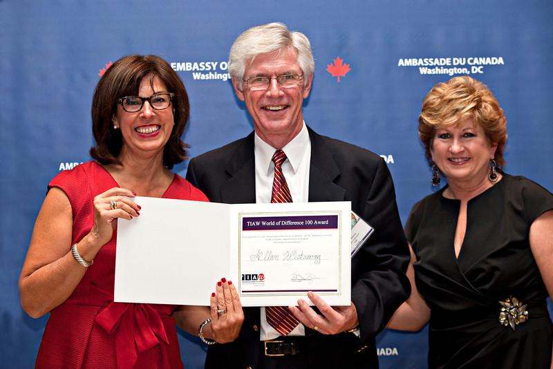 Awards dinner, TIAW Global Forum 2012. Shot 10/18/12