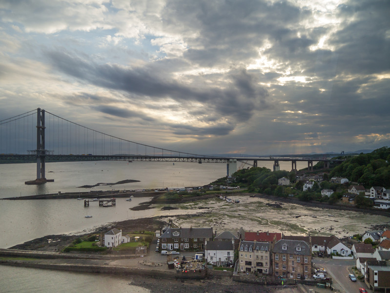Forth road bridge from the Forth Rail Bridge