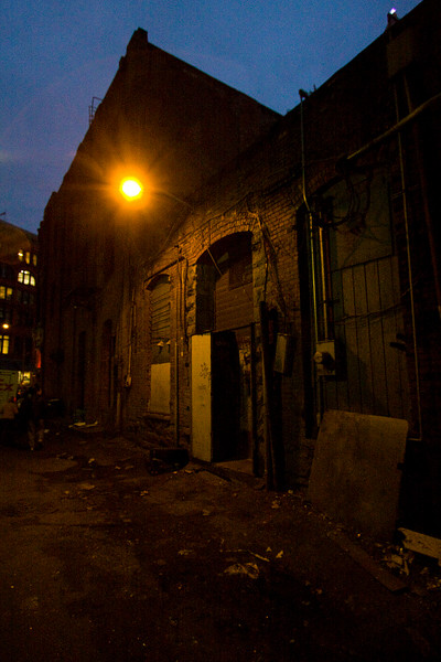 The tour included examination of some spooky above-ground alleys.