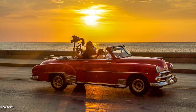 Red car sunset Malecon.jpg