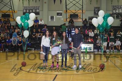 2015 Basketball/Dance Senior Night