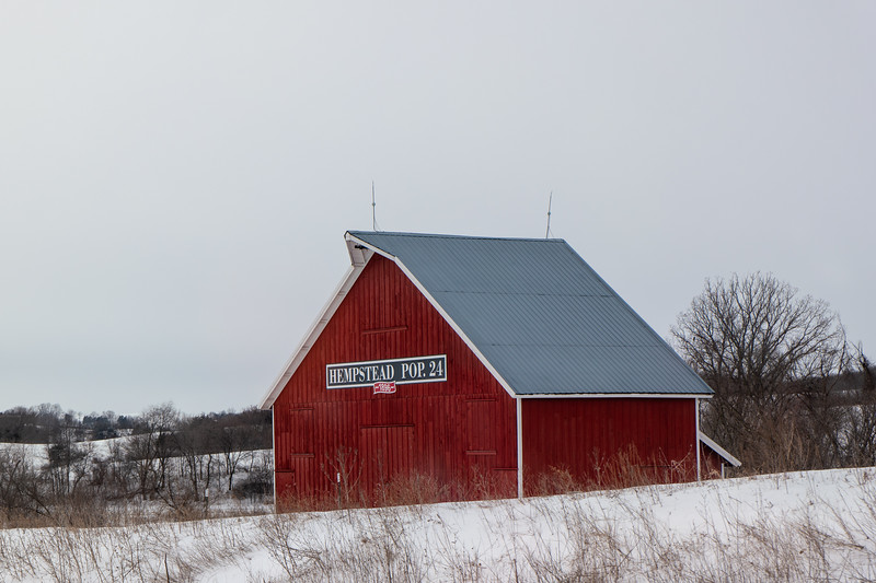 Wisconsin Barn Winter