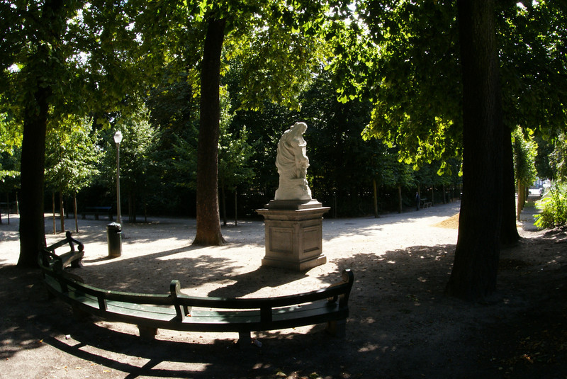 It was a nice day and we cut through a park in Brussels.
