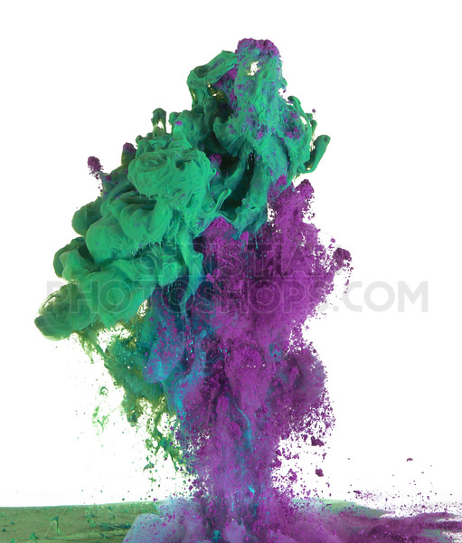 Green and purple paint