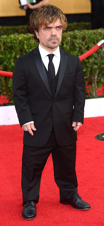 . Peter Dinklage arrives at the 20th Annual Screen Actors Guild Awards  at the Shrine Auditorium in Los Angeles, California on Saturday January 18, 2014 (Photo by Michael Owen Baker / Los Angeles Daily News)