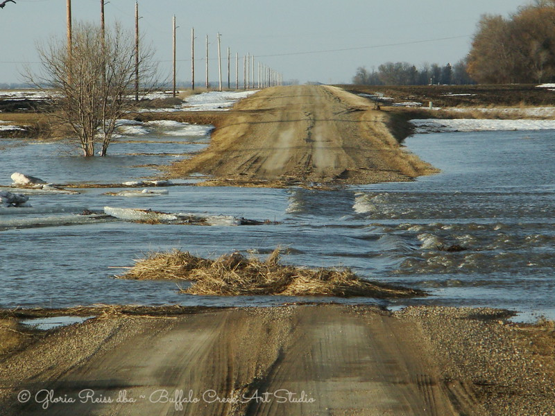 The slough is over the road.