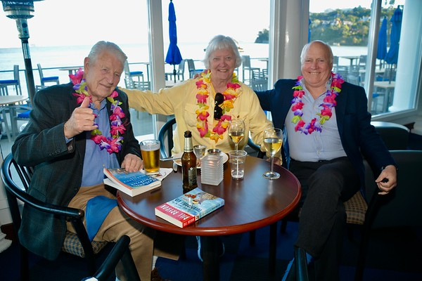 """""""Oaxaca"""" Victory party at CYC for winning the 50th running 2019 Transpac in the SC50/52, division #4, the race from the LA Yacht Club to the Diamond Head Lighthouse, Honolulu."""