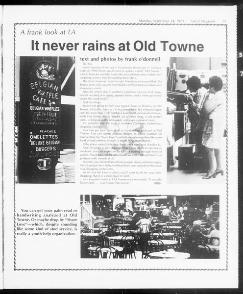 SoCal Magazine, Vol. 66, No. 6, September 24, 1973