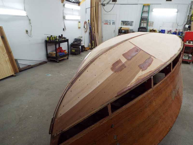 Starboard front with thickened epoxy added to low areas.