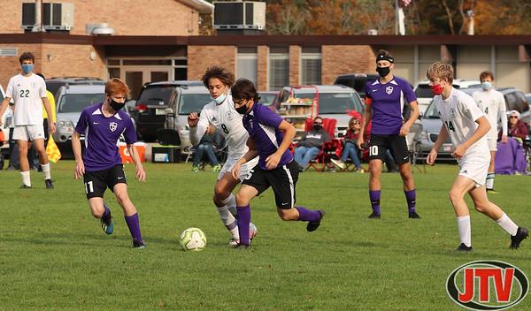Lumen Christi at Jackson Christian Boys Soccer District Semi-Finals   10-2-20