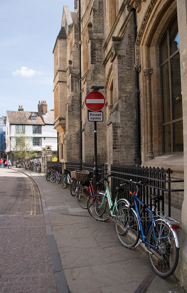 Student Parking Cambridge England April 2013
