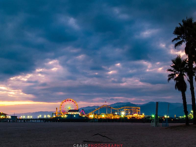 Santa Monica Pier Sunset 2