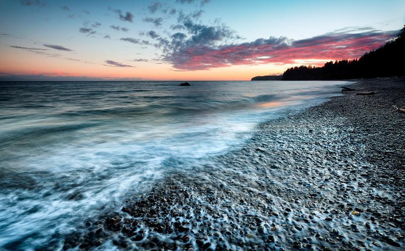 Sandlot Beach Sunset, Sooke.