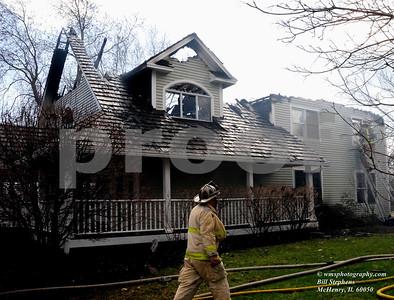 23737 W MILTON RD WAUCONDA, IL.  HOUSE FIRE