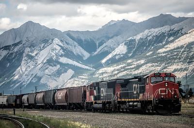 Train at Jasper, Alberta