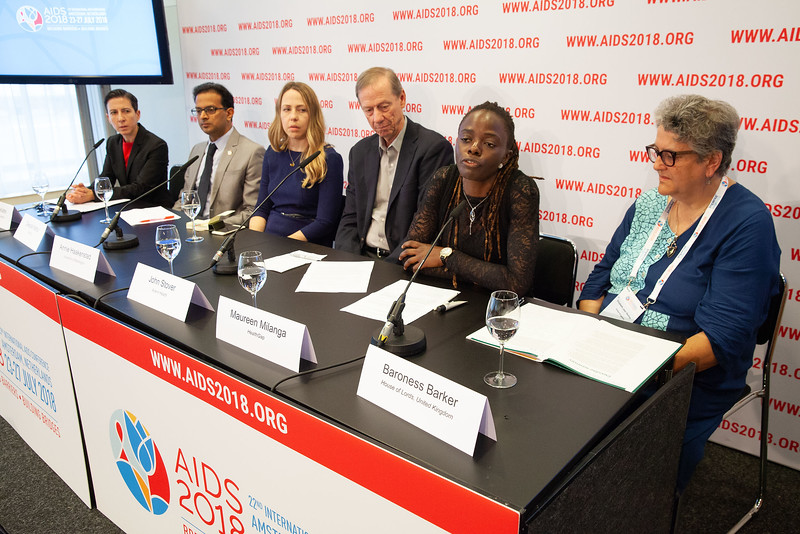 The Netherlands, Amsterdam, 25-7-2018. Press conference: The future of HIV funding.Photo: Rob Huibers for IAS. (Please publish always with complete attribution).