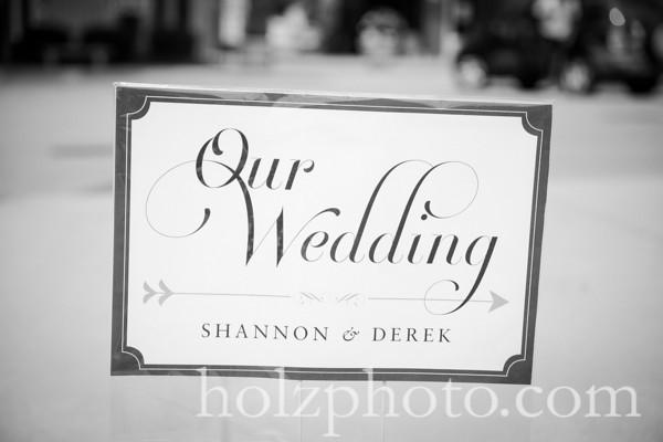 Shannon & Derek B/W Wedding Photos
