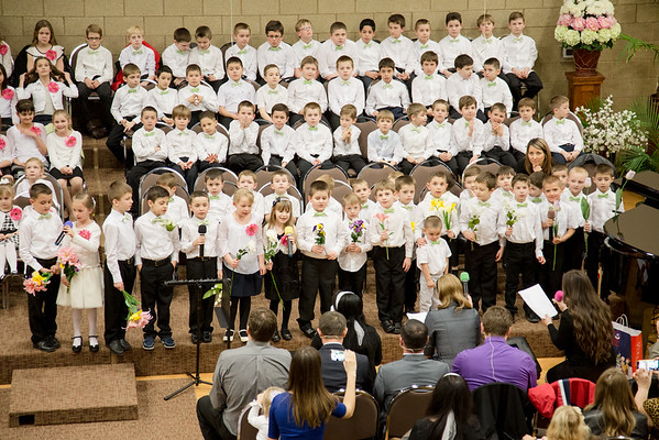 March 28,  2016  Kids choir Easter program