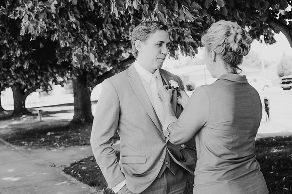 Groom Finishing Touches