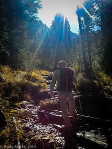 Tony, heading up Red Pine trail