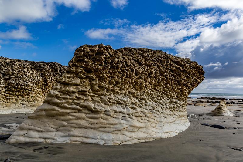 «Paturau Beach»: Sandsteinformation